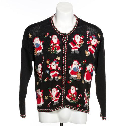 Hooray for Santa Vintage Ugly Christmas Sweater