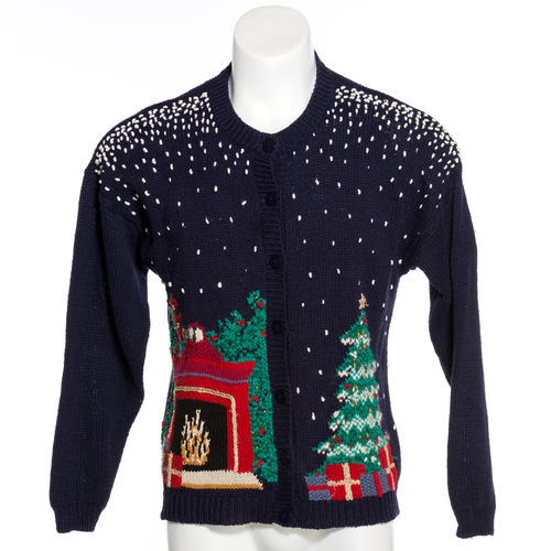 Christmas Eve Fireplace Ugly Christmas Sweater