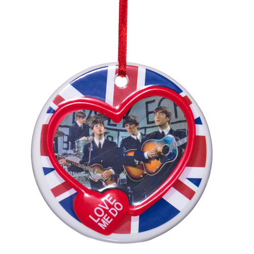 Porcelain Love Me Do Beatles Christmas Ornament