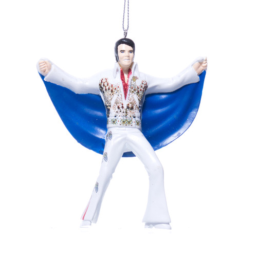 Elvis in Eagle Suit w/ Cape Christmas Ornament