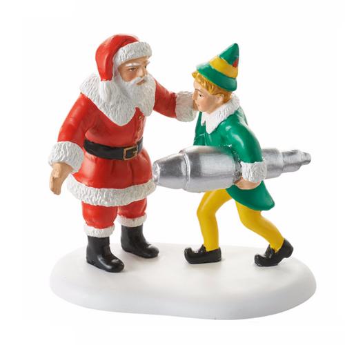 Buddy Elf and Santa with Kringle 3000