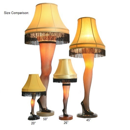 Leg Lamps From A Christmas Story.The Major Award Leg Lamp 50