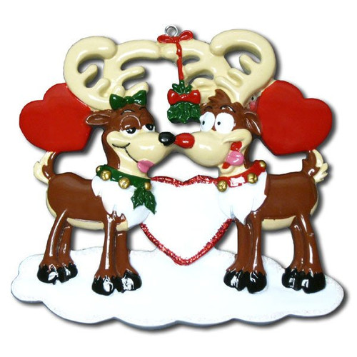 Reindeer Love Personalized Christmas Ornament