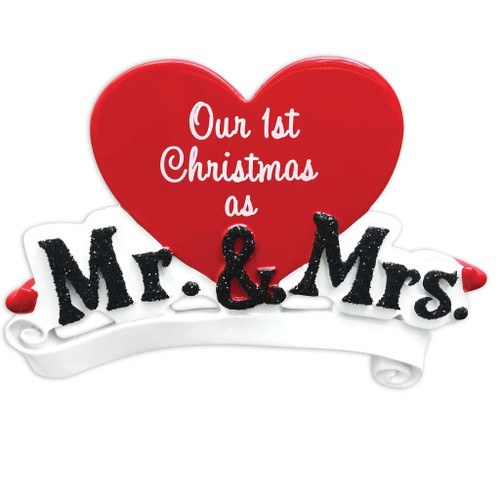 Our 1st Christmas as Mr. and Mrs. Personalized Christmas Ornament