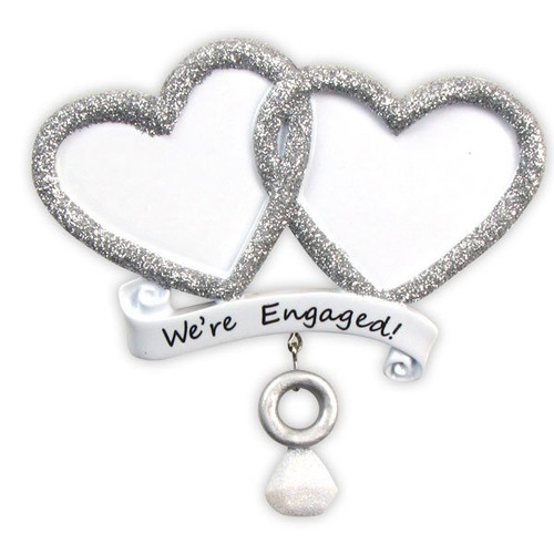 We're Engaged Personalized Christmas Ornament