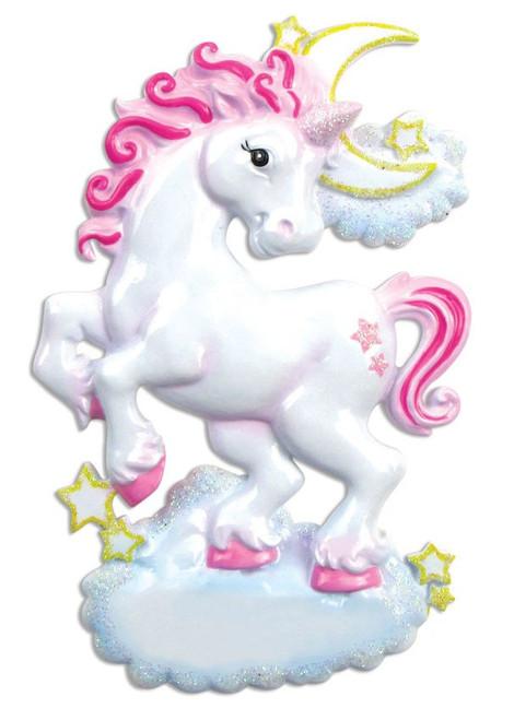 Unicorn Personalized Christmas Ornament
