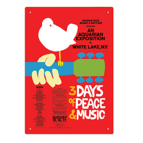 Woodstock Poster Tin Sign