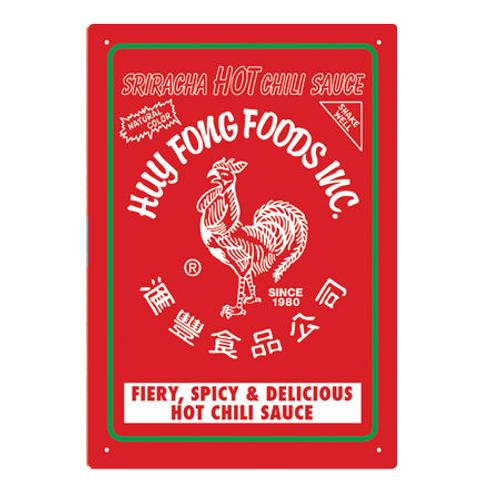 Sriracha - Hot Chili Sauce Tin Sign