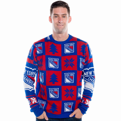 New York Rangers Ugly Christmas Sweater NHL 2016 Front 9a6ab6b4b7
