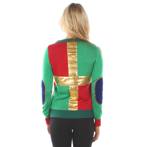 336d58f69 Pretty as a Present Ugly Christmas Sweater with Bow