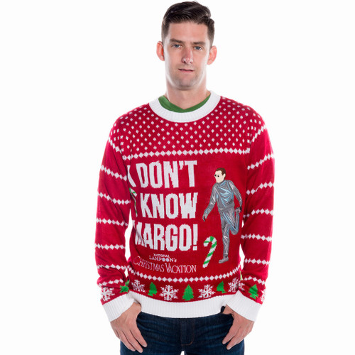 Christmas Vacation Sweaters.I Don T Know Margo Applique Men S Sweater By Festified