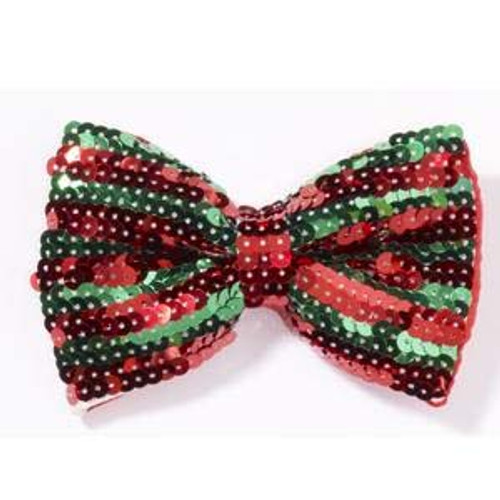 Red and Green Sequin Bow-Tie