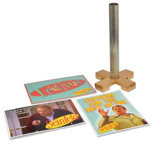"Festivus Kit - 9"" Desktop Pole and Greeting Card Set"