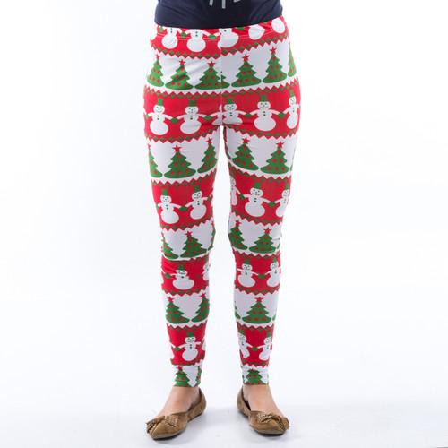 Christmas Print Leggings for Ladies