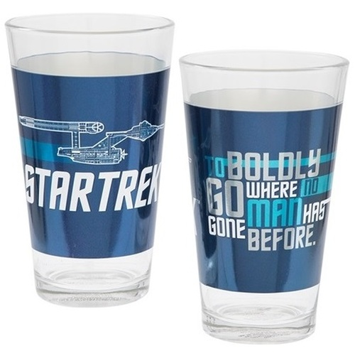 Star Trek 16 oz Laser Decal Glass Set