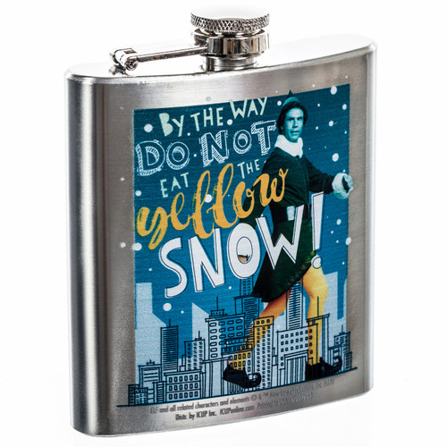 Elf the Movie Don't Eat Yellow Snow Flask