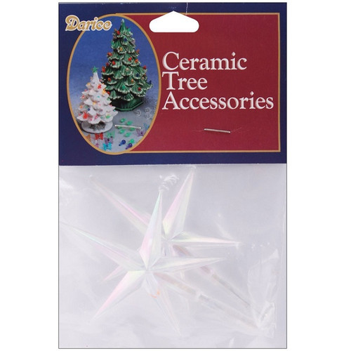 Ceramic Christmas Tree Replacement Star Pegs Set Of 2