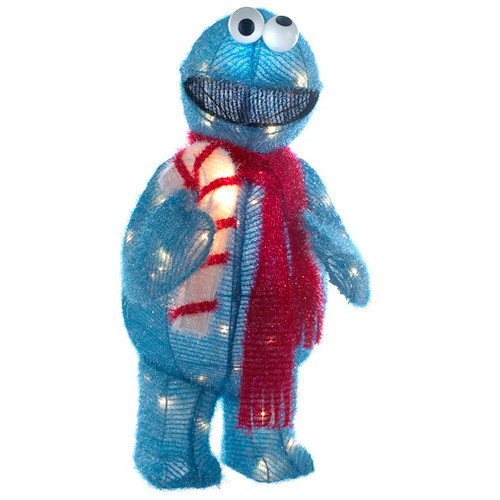 Tinsel Cookie Monster Lawn Ornament