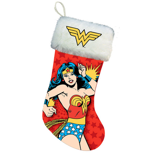 Wonder Woman Printed Christmas Stocking