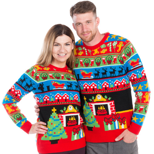 681582b4e Twas The Night Before Christmas Ugly Sweater - his and hers
