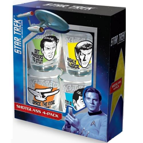 Star Trek Quotes Shot Glasses