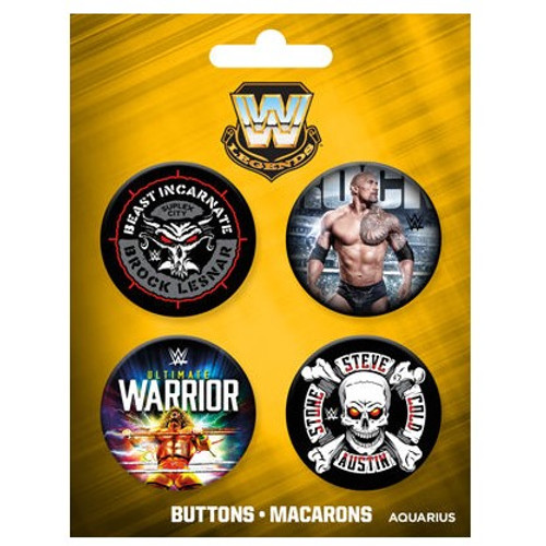 WWE Legend Buttons Set of Four