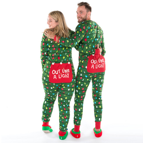 Christmas Onesies.Northern Lights Adult Christmas Onesie By Hatley