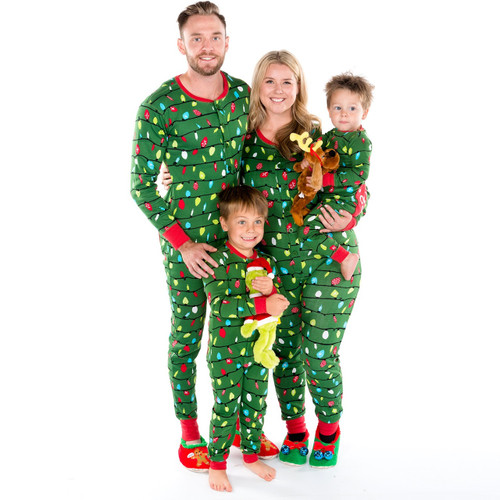 ... Christmas Pajamas with Bum Flap  Northern Lights Family Jammies Family  ... 992915b9a