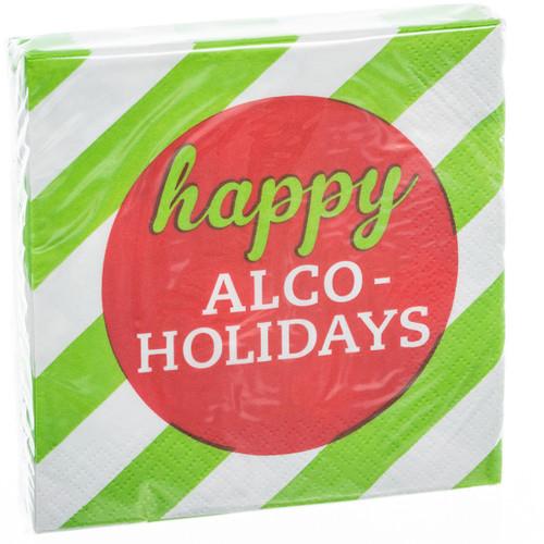 Happy Alcoholidays Cocktail Napkins