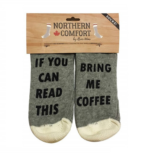 If You Can Read This... Socks coffee package