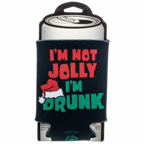 I'm Not Jolly I'm Drunk Can Cooler