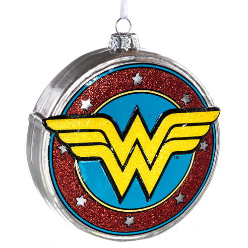 Wonder Woman Blown Glass Ornament