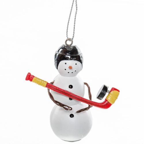 Hockey Snowman Ornament