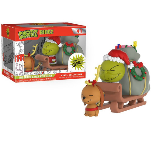 The Grinch & Max with Sleigh Vinyl Collectible
