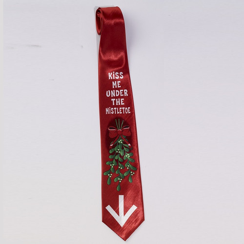Kiss Me Under the Mistletoe Tie