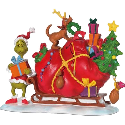 Grinch's Small Heart Grew Three Sizes That Day. Dept 56.