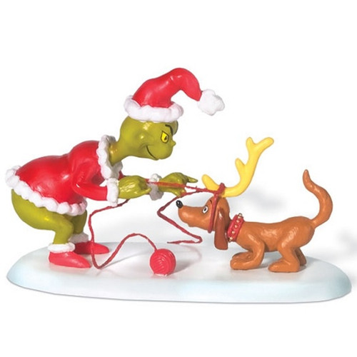 The Grinch with his dog Max. Dept 56.