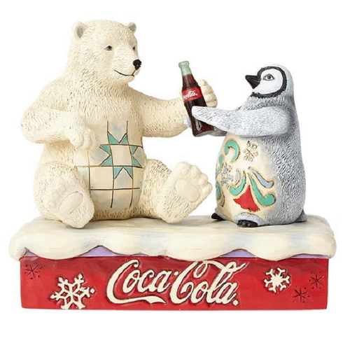 Coca-Cola Polar Bear and Penguin Friendship Goes Better With Coke Figure