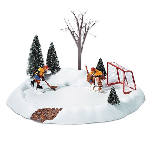 Department 56 Hockey Practice Animated Pond