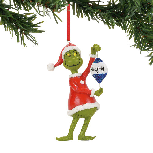 Naughty and Nice Grinch Ornament