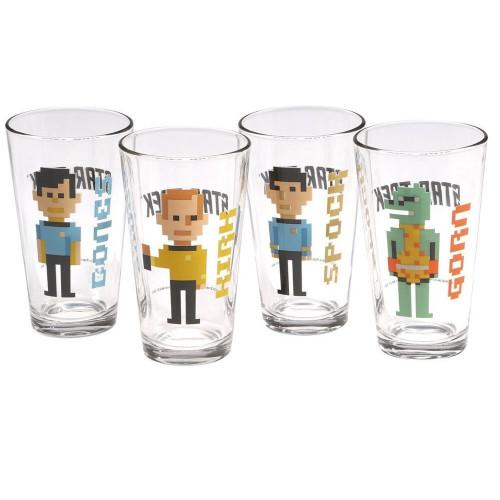 Star Trek Trexel Character Pint Glasses 4 Pack Unboxed View