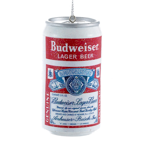 Budweiser Beer Can Ornament