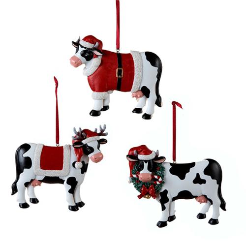 Christmas Cow.Christmas Cow Ornament
