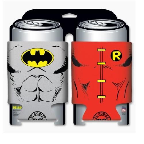 DC Comics Batman and Robin Character Can Cooler 2 Pack