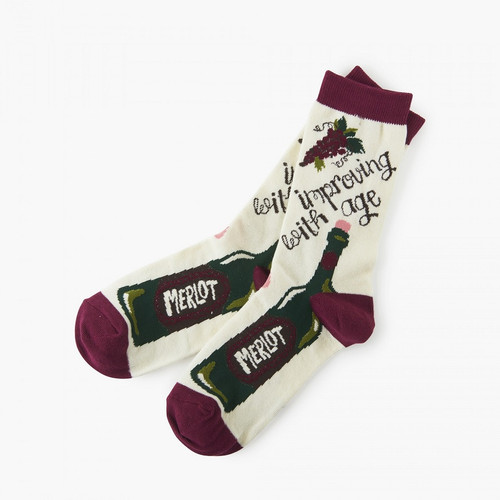 Hatley Improving With Age Women's Crew Socks
