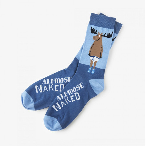 Hatley Almoose Naked Men's Crew Socks