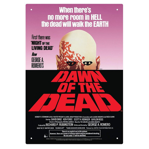 Dawn of the Dead Tin Sign