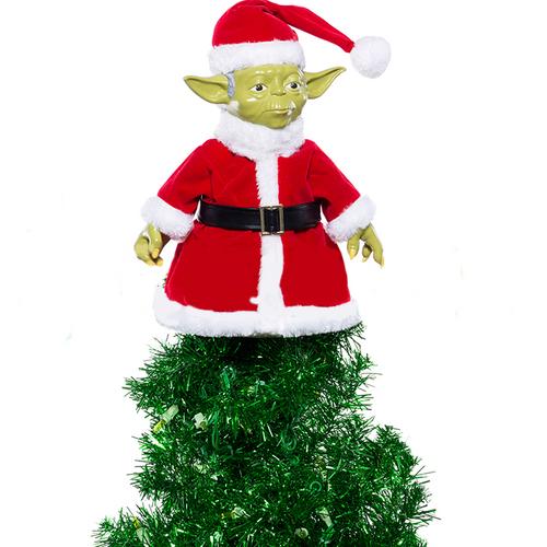 Star Wars Santa Yoda Christmas Tree Topper