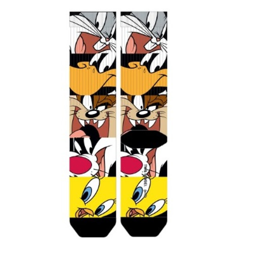 Looney Toons Stacked Character Heads Men's Socks