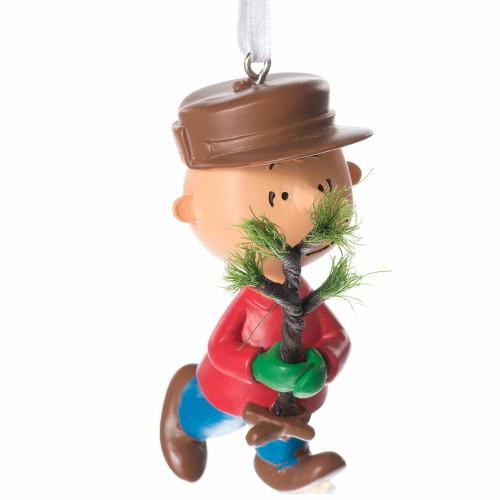 Charlie Brown Christmas Tree Image.Peanuts Charlie Brown With Christmas Tree Ornament By Hallmark